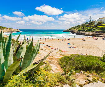 Mallorca Bucht Strand Cala Mandia Balearen Spanien