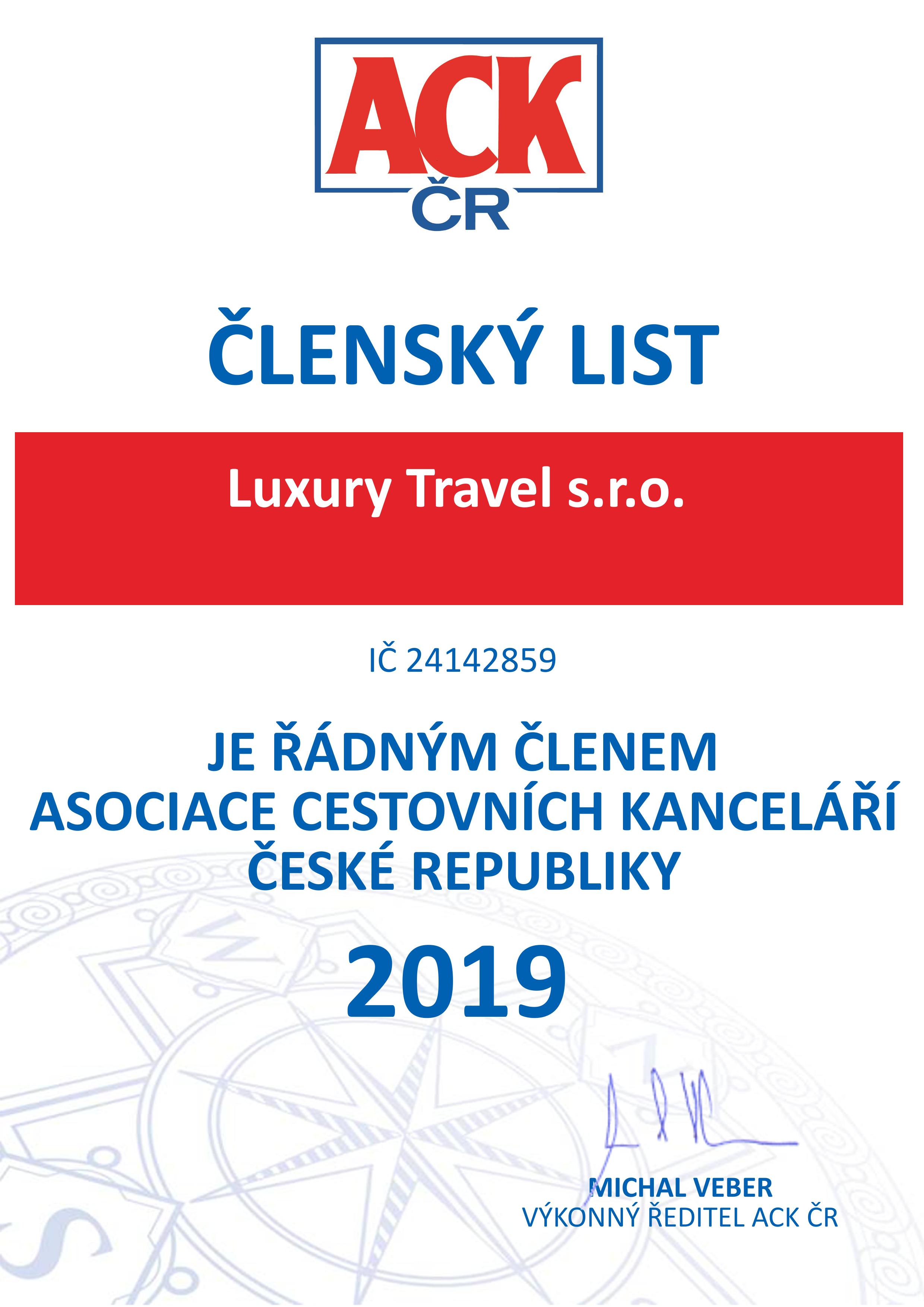 Luxury Travel s.r.o.2019